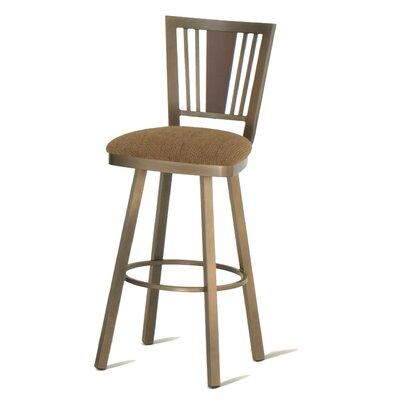 Amisco Madison 26&quot; Swivel Counter Stool with Memory Return