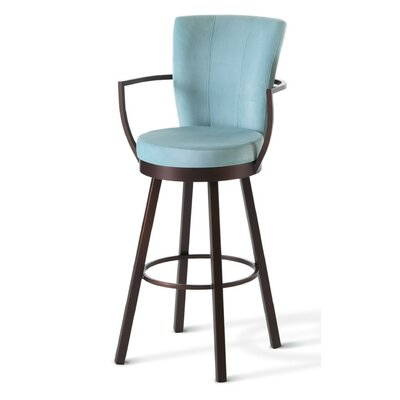 "Amisco Cardin 26"" Swivel Counter Stool"