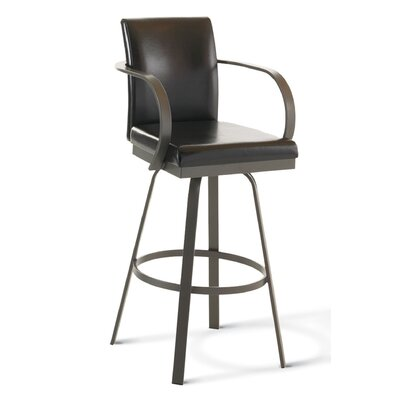 "Amisco Lance 30"" Swivel Bar Stool"