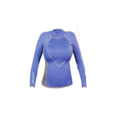Neosport 1.5mm XSPAN Women's Long Sleeve Top Wetsuit in Blue