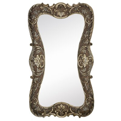 Traditional Plain Mirror with Dark Wash in Antique Silver