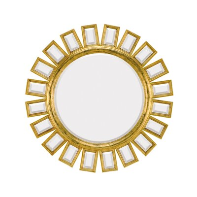 Majestic Mirror Contemporary Round Bevel Wall Mirror