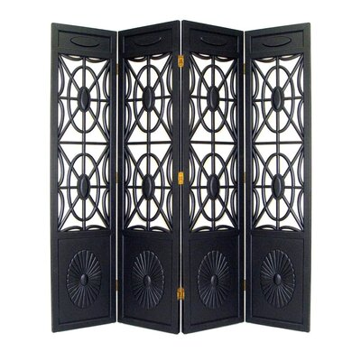 Oriental Furniture Charleston Room Divider in Black