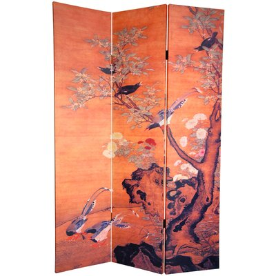 Oriental Furniture 6Feet Tall Double Sided Chinese Landscapes Canvas Room Divider