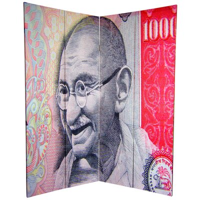 Oriental Furniture 6Feet Tall Double Sided Gandhi Room Divider