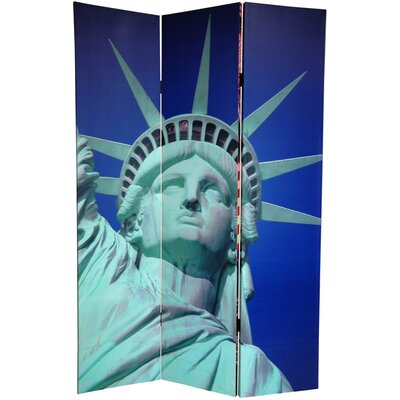 Oriental Furniture 6Feet Tall Double Sided Liberty Canvas Room Divider