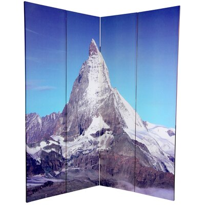 Oriental Furniture 6 Feet Tall Double Sided Matterhorn/Everest Canvas Room Divider
