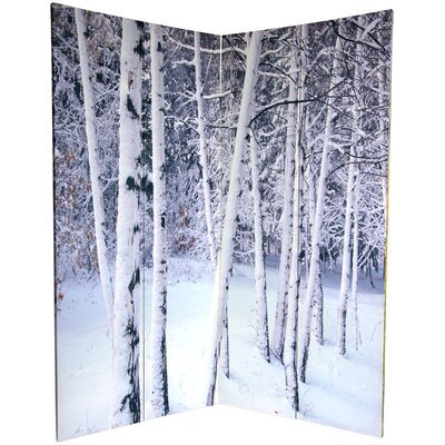 6-Feet Tall Double Sided Birch Trees Room Divider