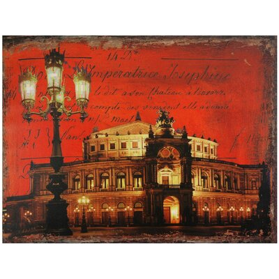 German Opera House Canvas Wall Art