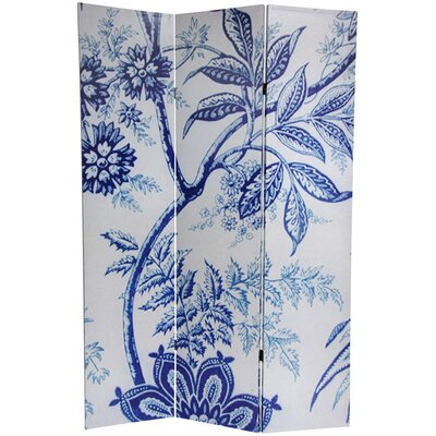 6 Feet Tall Floral Double Sided Room Divider
