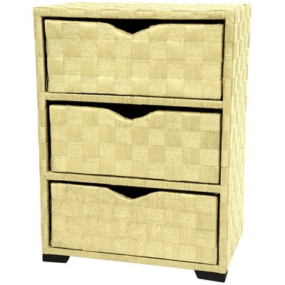 Oriental Furniture 25&quot; Chest of Drawers in White