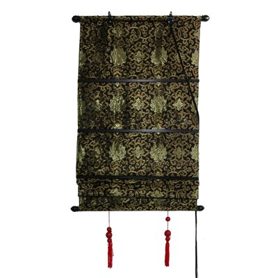 Oriental Furniture Shang Hai Tan Blinds in Black and Gold