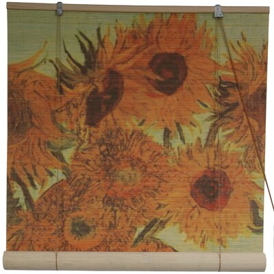 Oriental Furniture Sunflowers Rayon Roller Blind