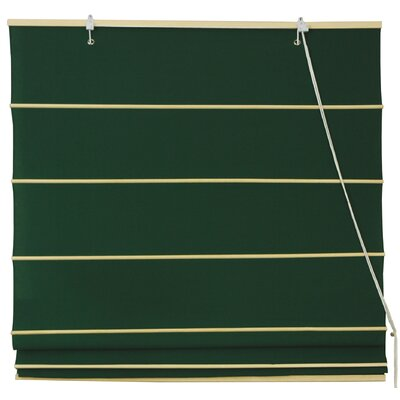 Oriental Furniture Cotton Roman Shades Blinds in Dark Green