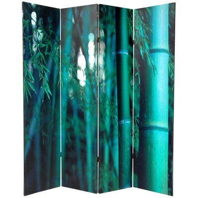 Double Sided Bamboo Tree Canvas 4 Panel Room Divider