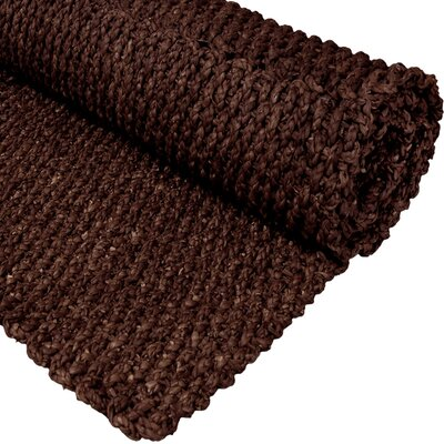 Handmade Dark Brown Rug