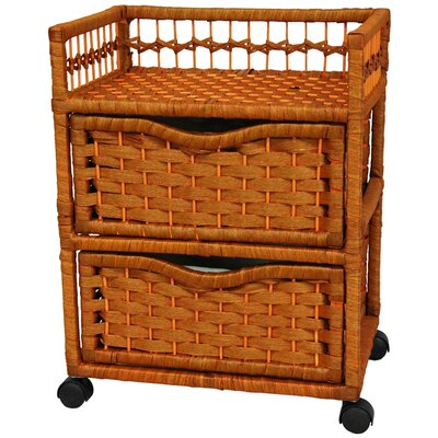 "Oriental Furniture 23"" Natural Fiber Chest"