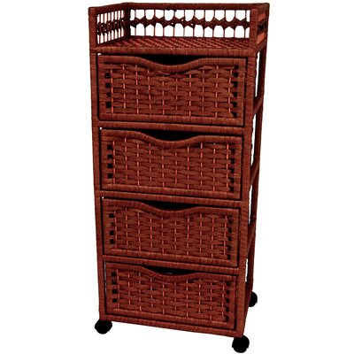 "Oriental Furniture 38"" Natural Fiber Chest"