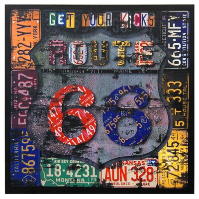 Route 66 Canvas Wall Art - 19.75