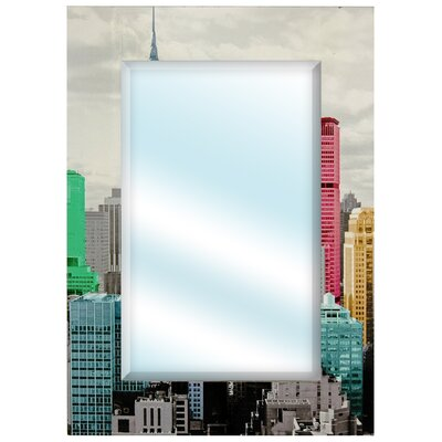 Colorful New York City Wall Mirror in Black and White
