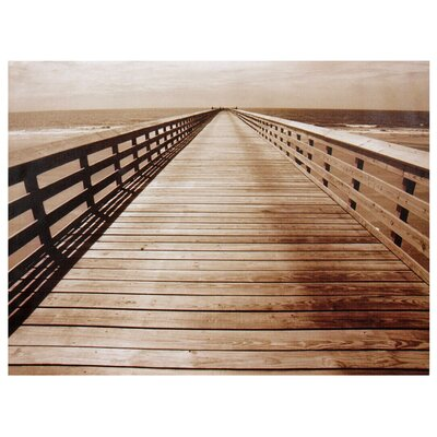Ocean Walkway Canvas Wall Art - 23.5