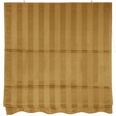 Oriental Furniture Striped Retractable Cotton Roman Shade
