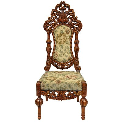 Oriental Furniture Queen Victoria Parlor Fabric Side Chair