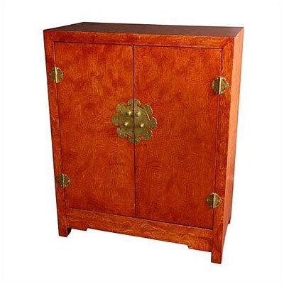 Chinese Burl Wood Cabinet