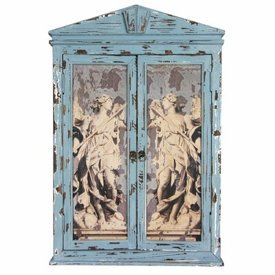 Oriental Furniture Distressed Framed Angels Mirror