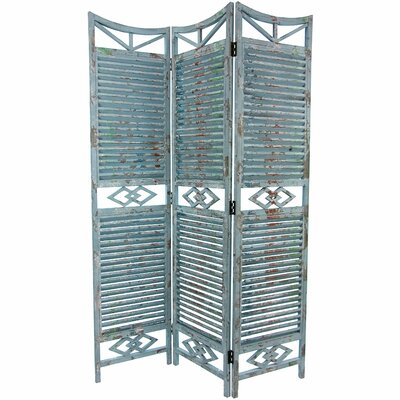 Oriental Furniture Rustic Slatted Room Divider
