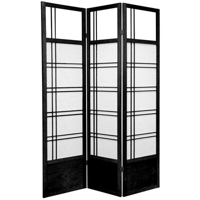 Oriental Furniture Kumo Classic Shoji Room Divider in Black