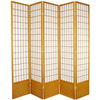 "Oriental Furniture 78"" Window Pane Decorative Room Divider in Honey"