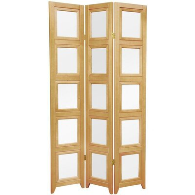 Oriental Furniture Double Sided Photo Display Room Divider in Natural