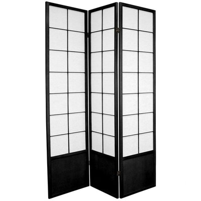 Oriental Furniture Zen Asian Room Divider in Black