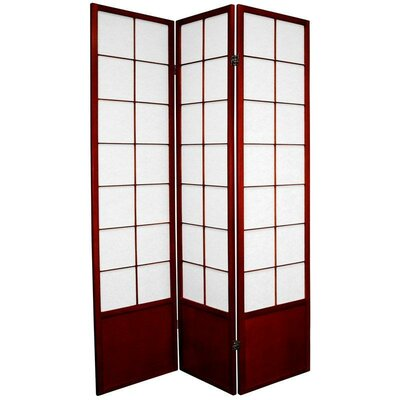 Oriental Furniture Zen Asian Room Divider in Rosewood