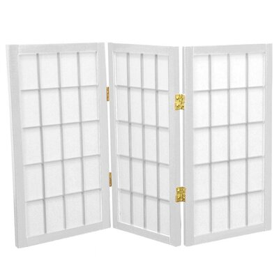 2 Feet Tall Desktop Window Pane Shoji Screen in White