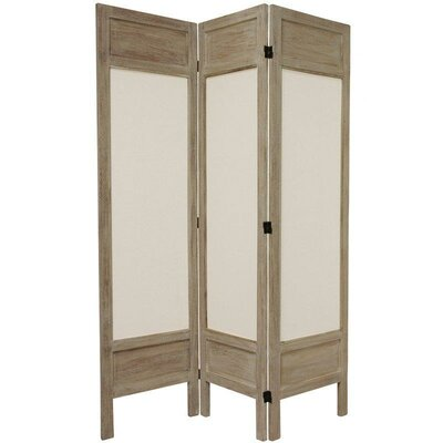 6 Feet Tall Solid Frame Fabric Room Divider in Burnt Grey
