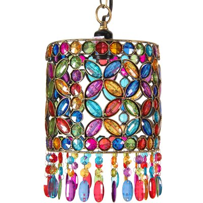 Four Petal Beaded Ceiling Lantern
