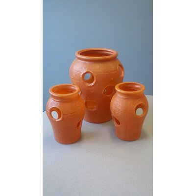 Strawberry Round Jar Planters (Set of 3)
