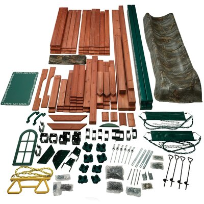 Swing-n-Slide Real Tree Woodsman Wood Complete Play Set