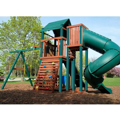Swing-n-Slide Soaring Summerville Twist Wood Complete Play Set