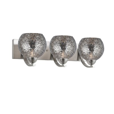 Woodbridge Lighting North Bay Three Light Bath Bar in Satin Nickel