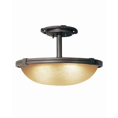 Woodbridge Lighting Wayman 2 Light Semi-Flush Mount