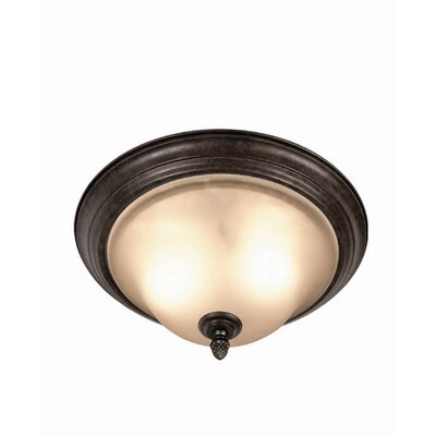 Woodbridge Lighting Harrington 2 Light Flush Mount