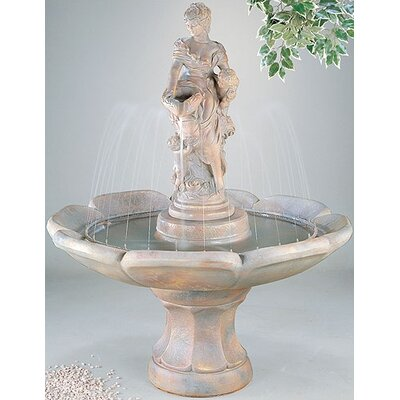 Henri Studio Figurine Cast Stone Anne Petal Fountain