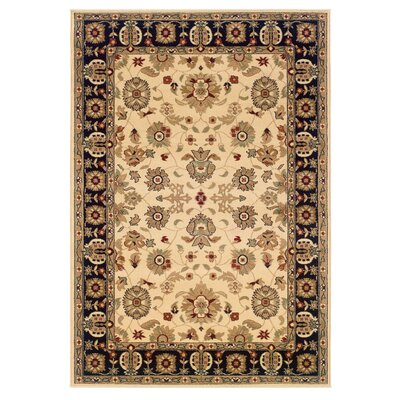 LR Resources Adana Cream/Black Persian Rug