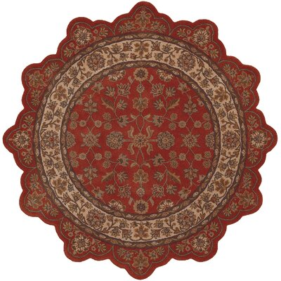 LR Resources Shapes Brick/Ivory Persian Rug
