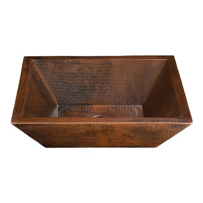Diego II Rectangular Hand Hammered Copper Vessel Sink