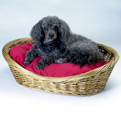 Snoozer Pet Products Medium Wicker Dog Basket