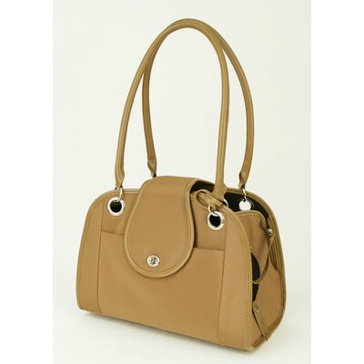 Small Open Tote Pet Carrier in Tan